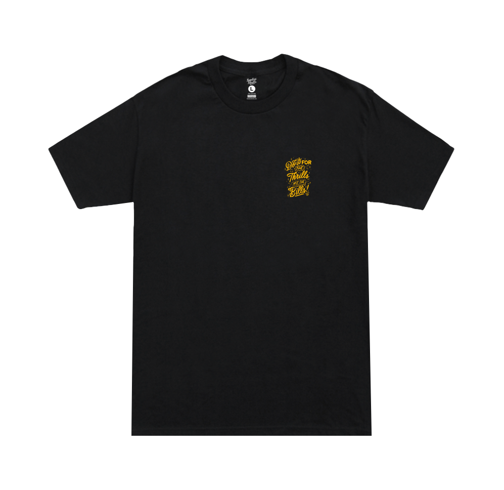 DO IT Tee black & gold