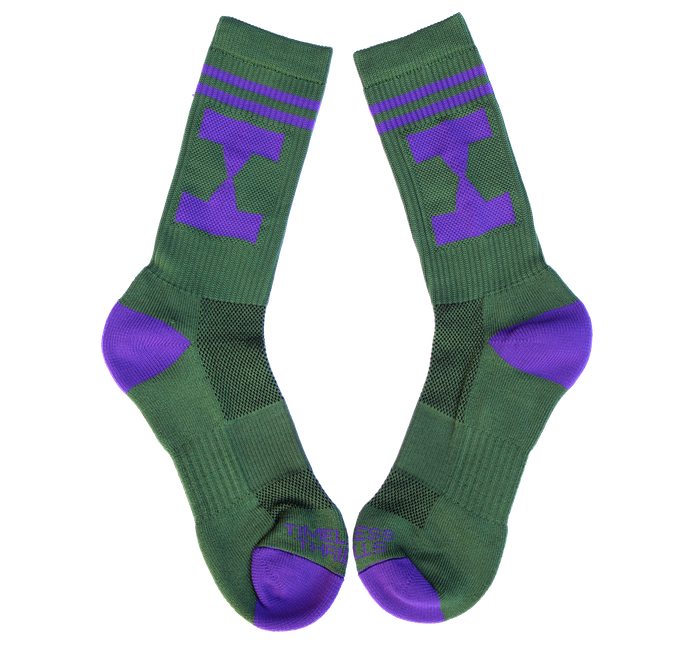 EHG Socks forest/purple
