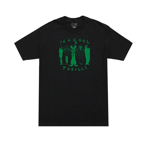 ILLEGAL THRILLS Tee black