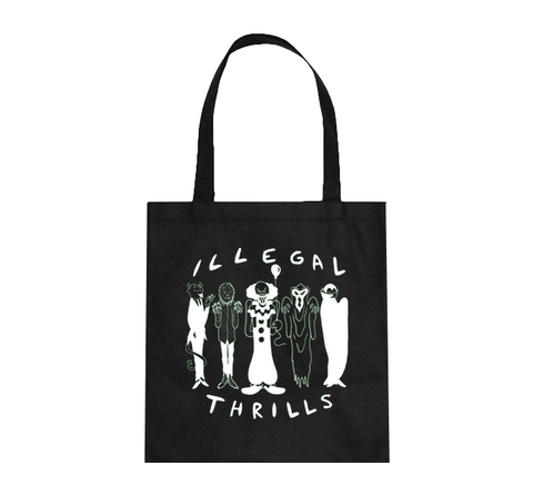 ILLEGAL THRILLS Glow-in-the-Dark Tote Bag