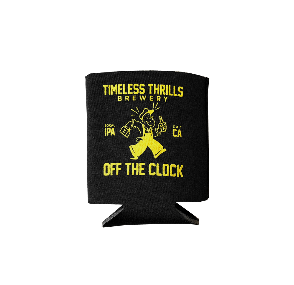 OFF THE CLOCK Koozie