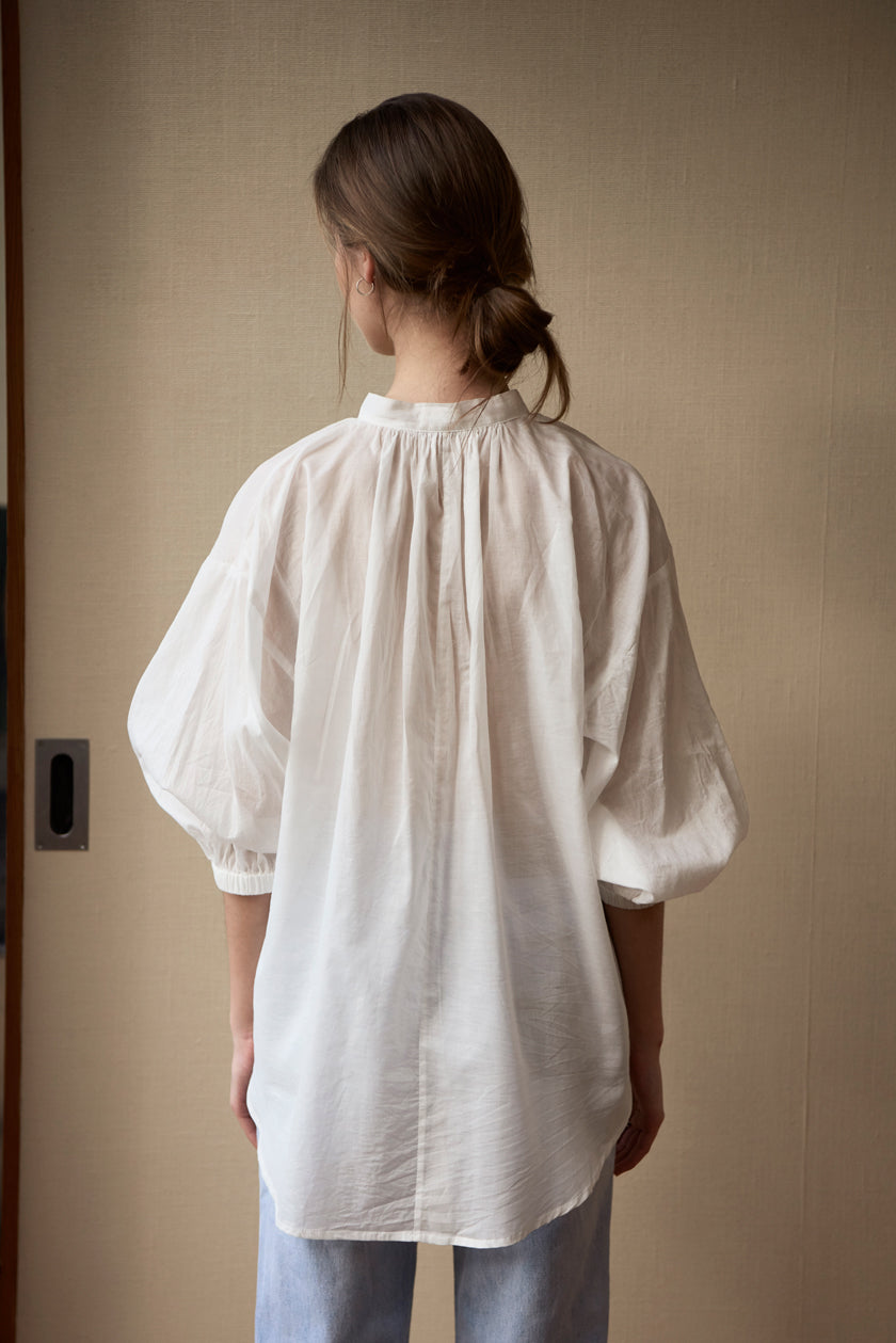 Don't Tie Me Down Blouse - Cotton Voile | White
