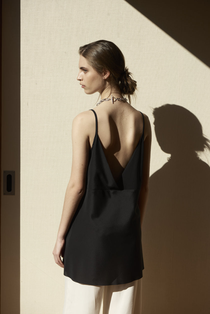 It Was Brief Camisole | Stretch Silk | Black