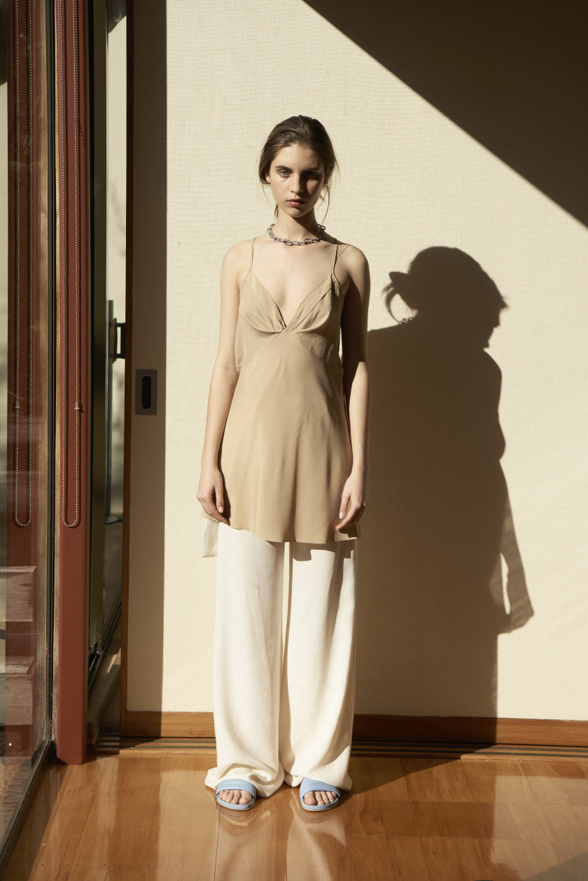 It Was Brief Camisole | Stretch Silk | Camel