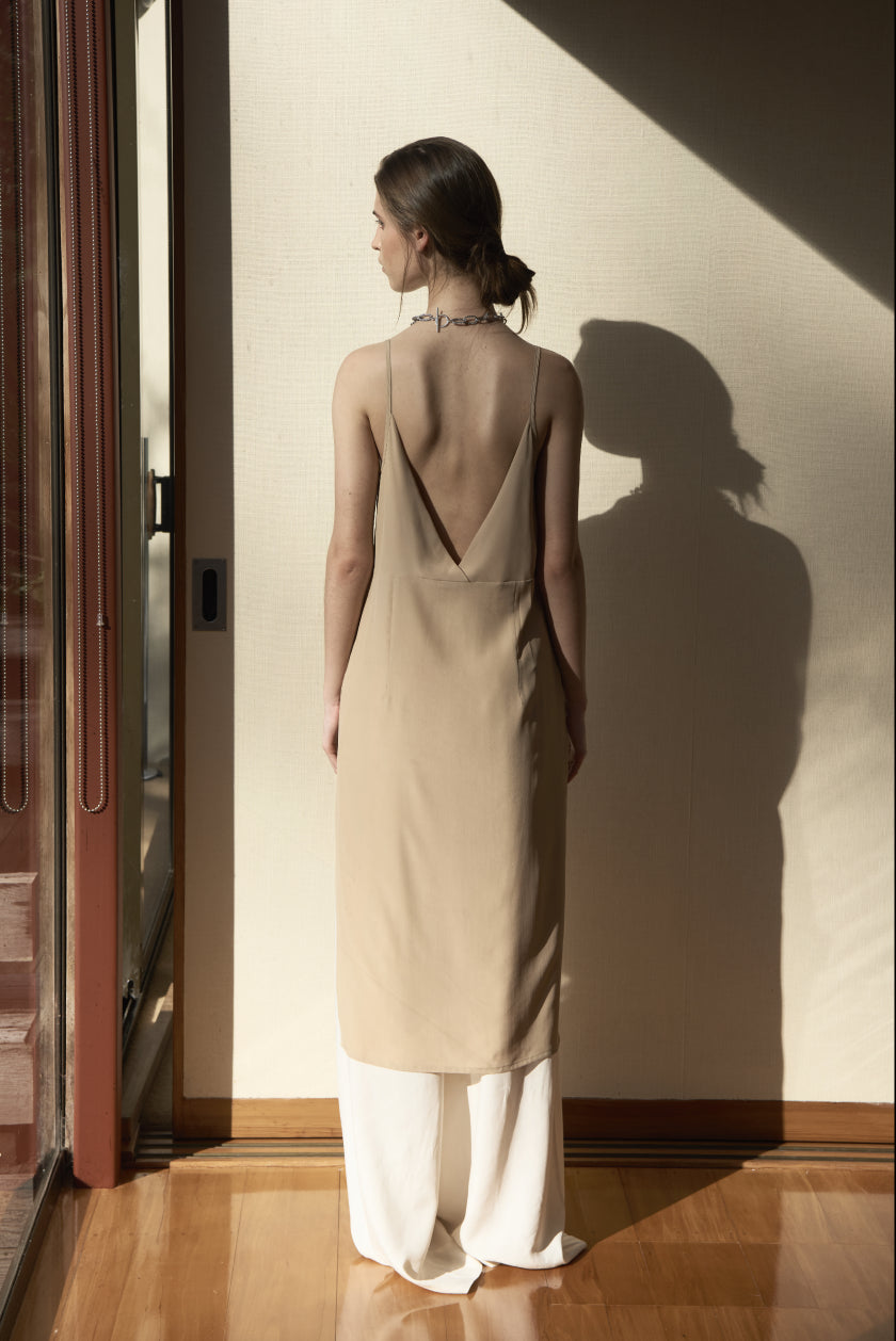 It Was Brief Slip - Stretch Silk | Camel