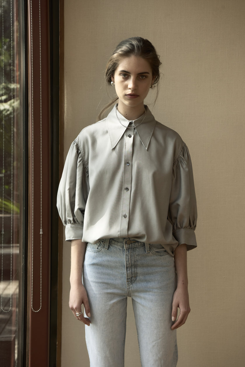 My Gentleman Romantic Shirt - Silk Shirting | Picasso Grey