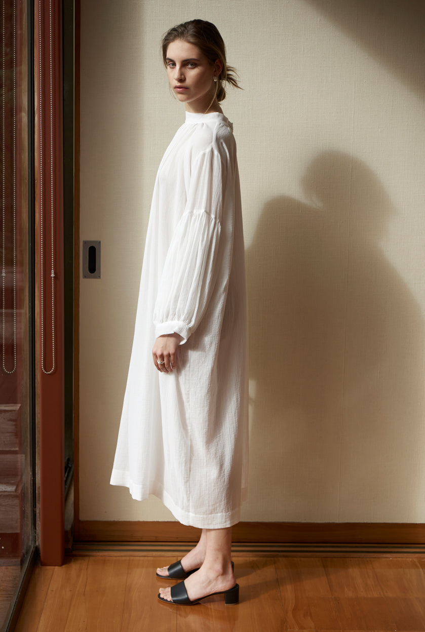 Preacher Maxi Dress - Cotton Muslin | Ivory