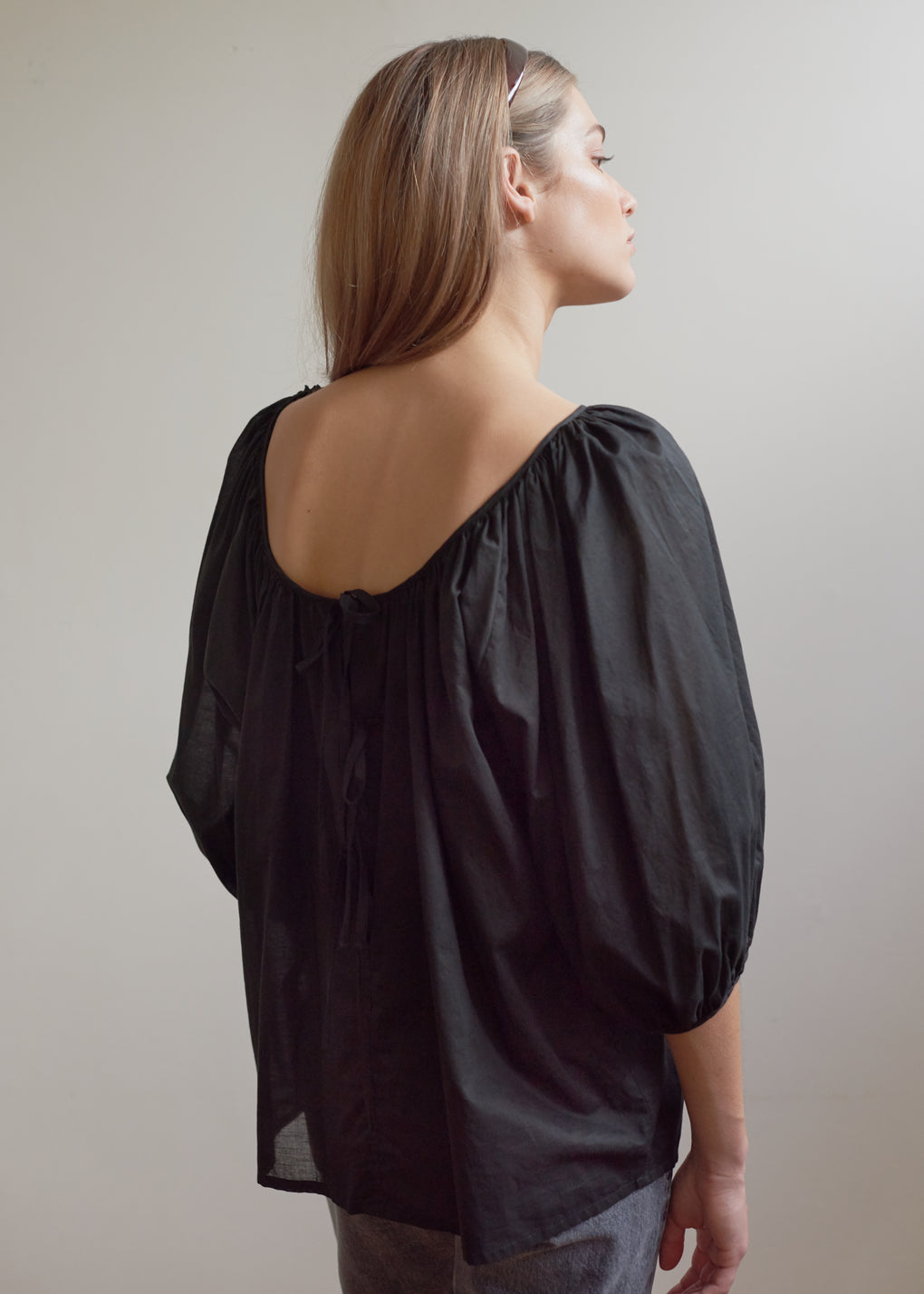Ballet Blouse | Cotton Voile | Black