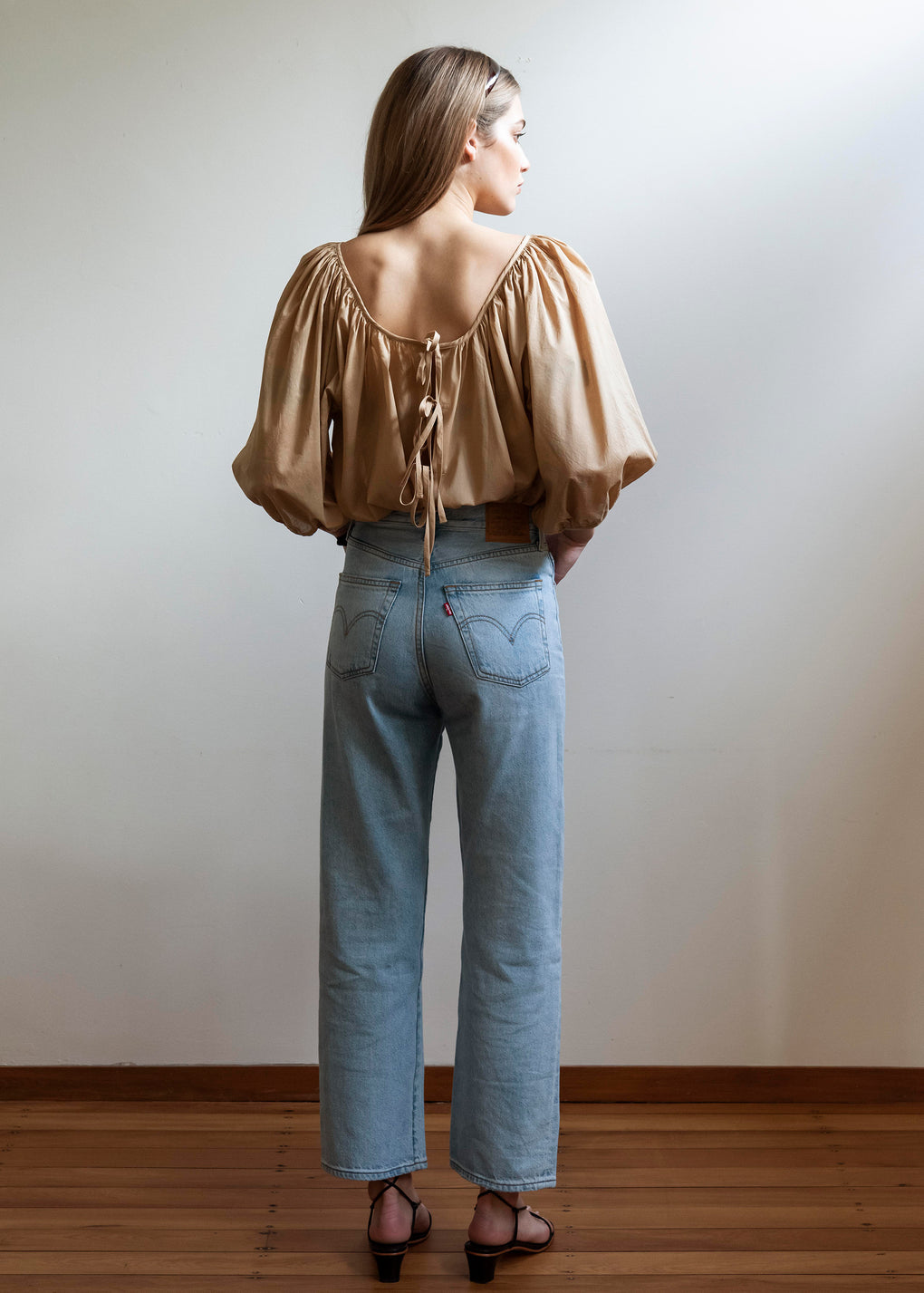 Ballet Blouse | Cotton Voile | Camel