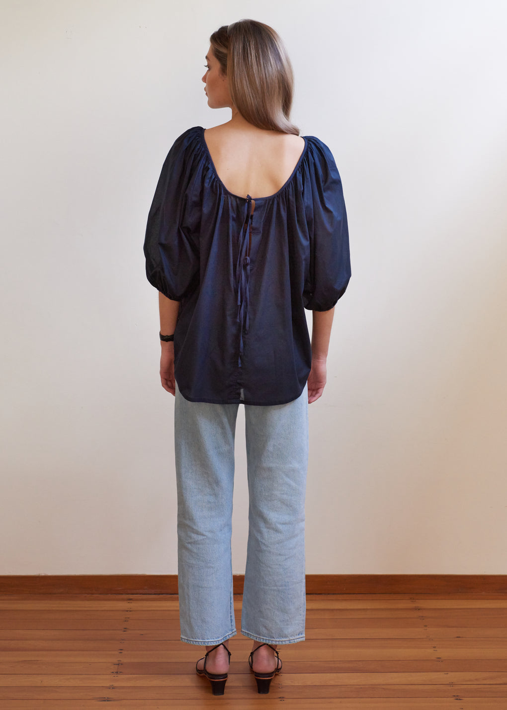 Ballet Blouse | Cotton Voile | Navy