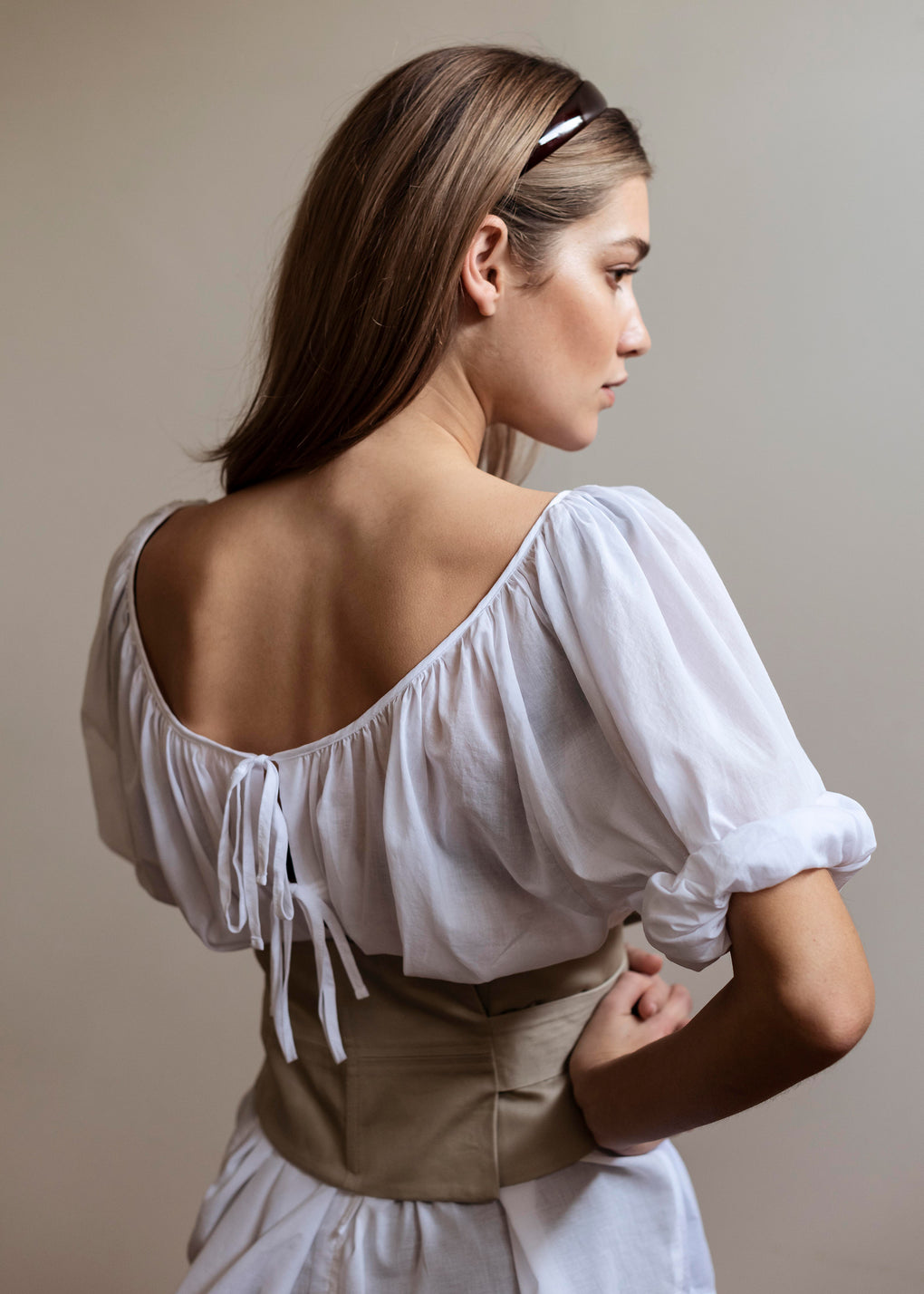 Ballet Blouse | Cotton Voile | White