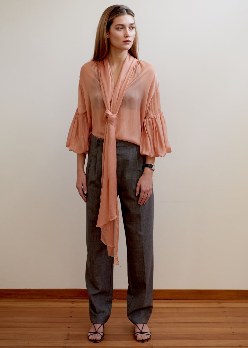 Bow Blouse | Silk Voile | Dusty Rose