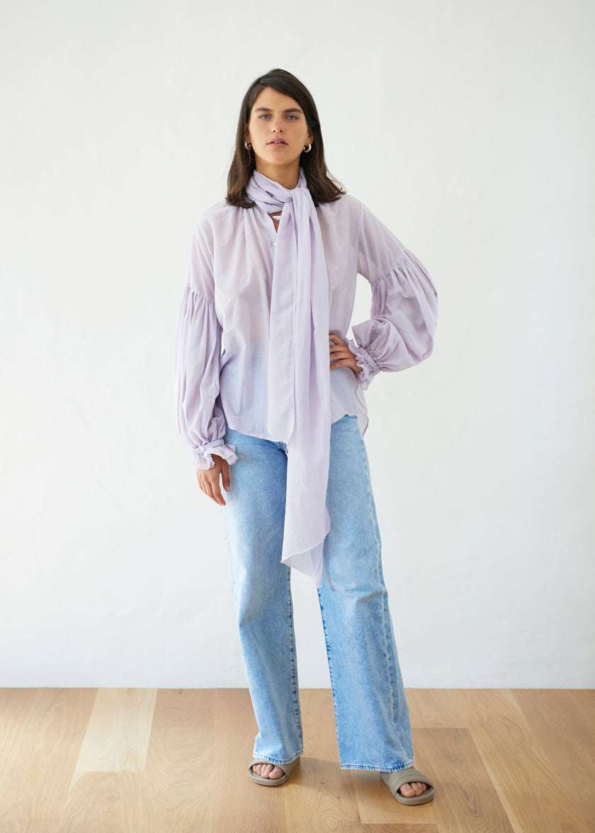 Bow Blouse - Liberty | Lilac