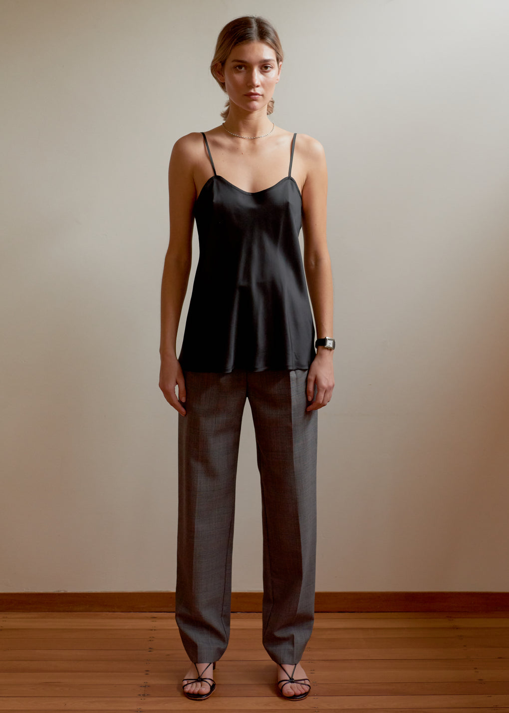 Camisole | Viscose Twill | Black