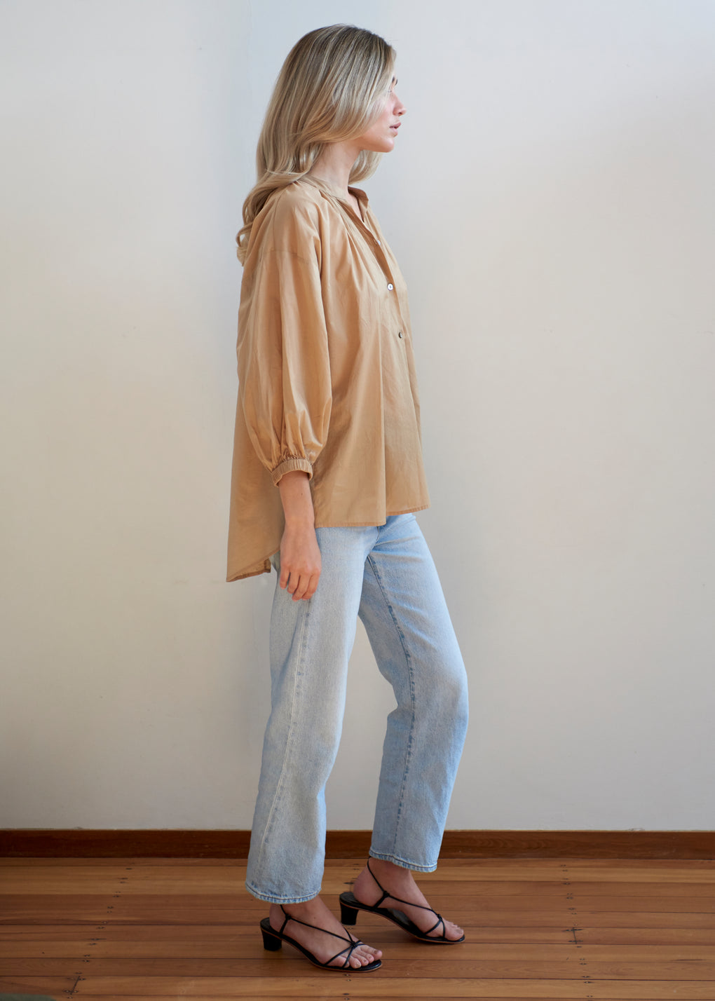 Everyday Blouse | Cotton Voile | Camel