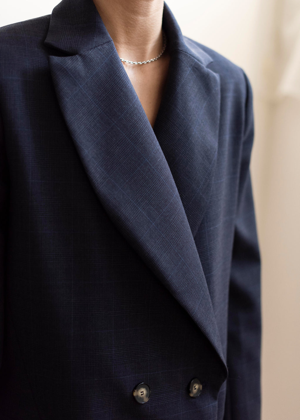 Gentleman Blazer | Plaid Suiting | Navy