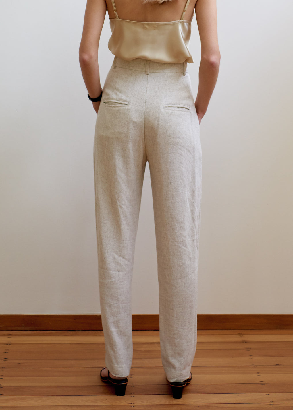 New Gentleman Trouser | Linen Blend | Natural