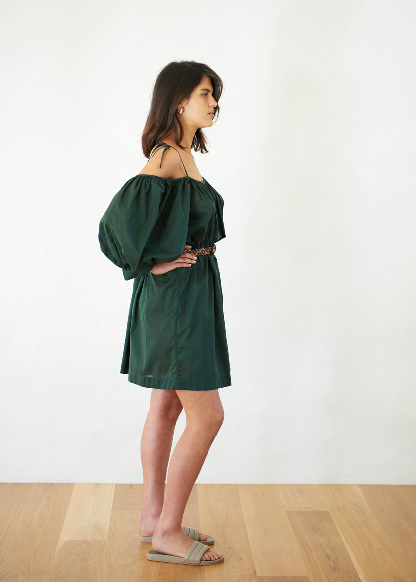Late Bloomer Mini Dress - Cotton Voile | Jungle