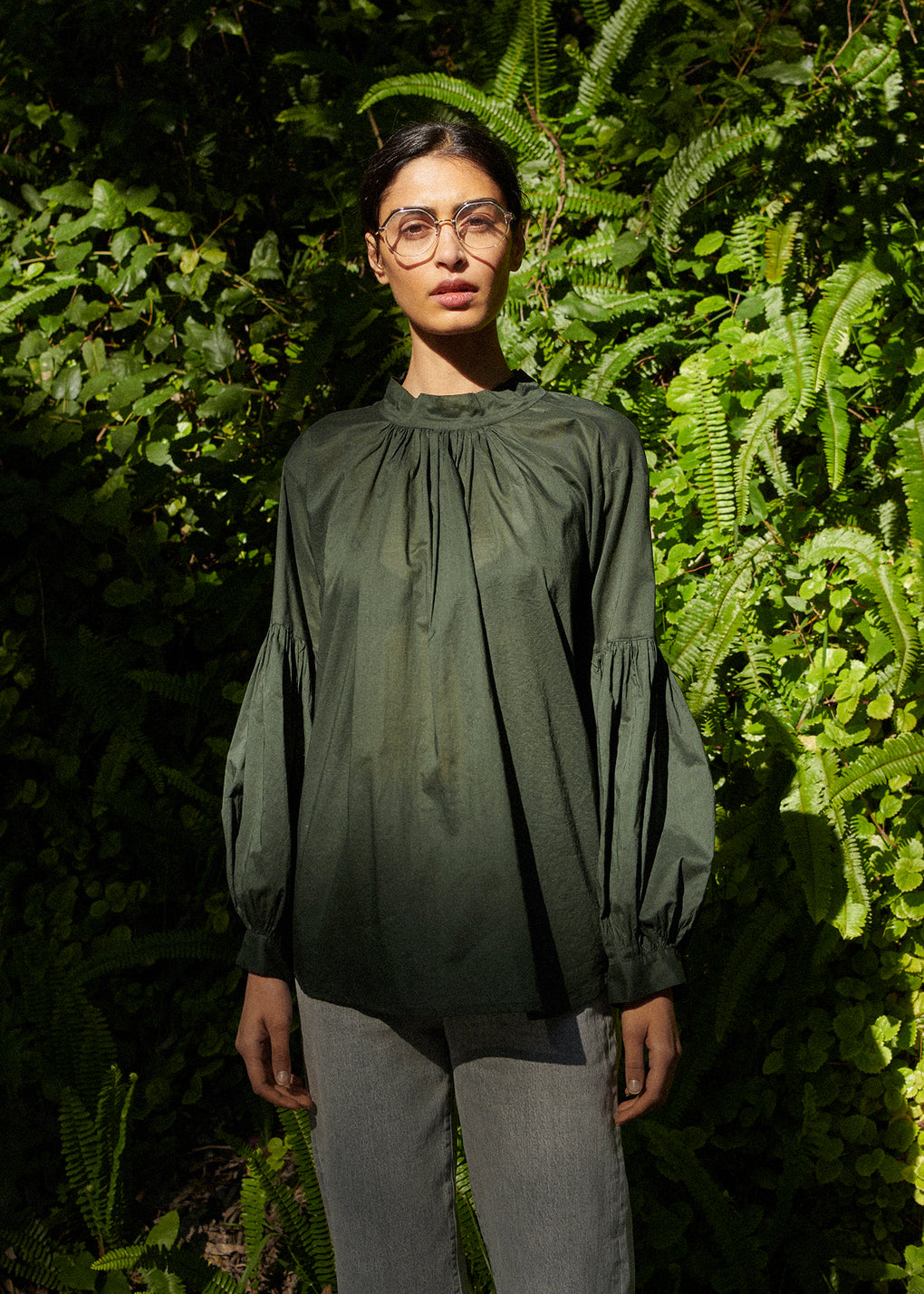 Long Preacher Top | Cotton Voile | Jungle