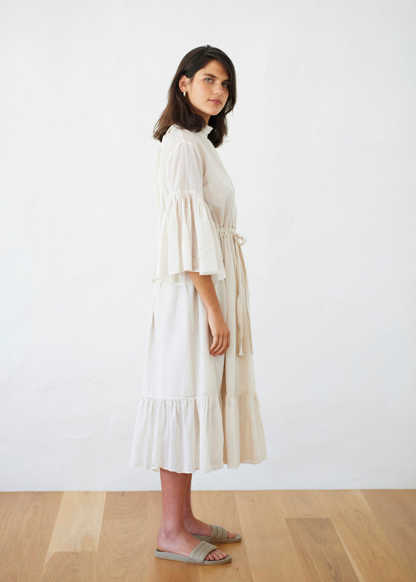 O'Keeffe Dress - Liberty | Eggshell