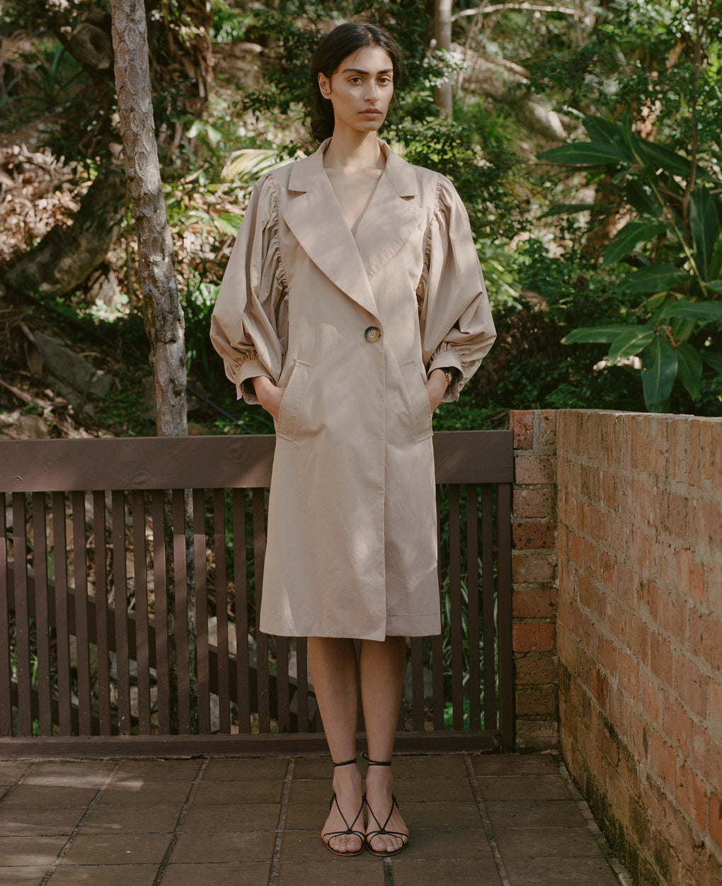 Romantic Trench | Peached Cotton | Camel
