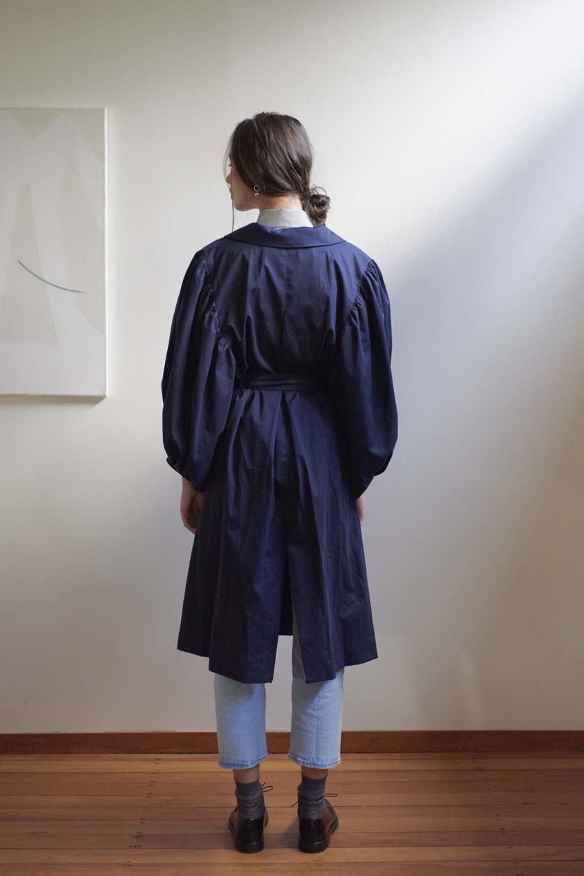Romantic Trench - Peached Cotton | Navy