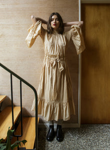O'Keeffe Dress - Camel / White