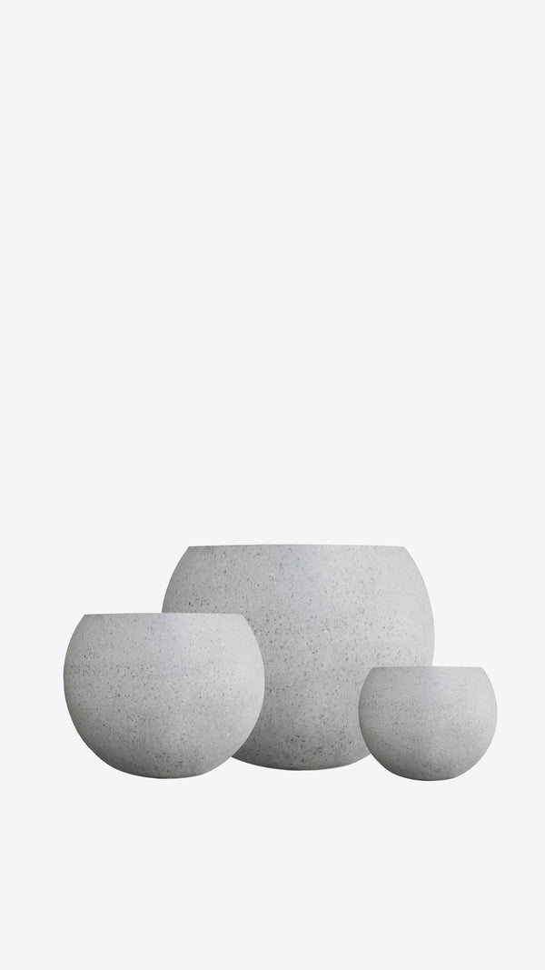 Cimstone Low Circular Plant Pot - Ian Lyell Design