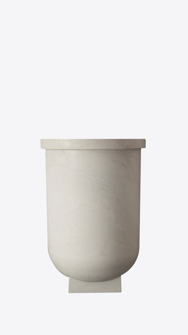 Delta Square Base Marble Pot - Ian Lyell Design Pots for Living Life