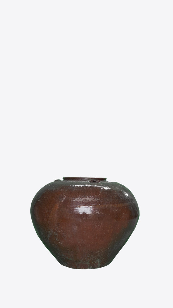 Burmese Ceramic Pot 02 - Ian Lyell Design Pots for Living Life