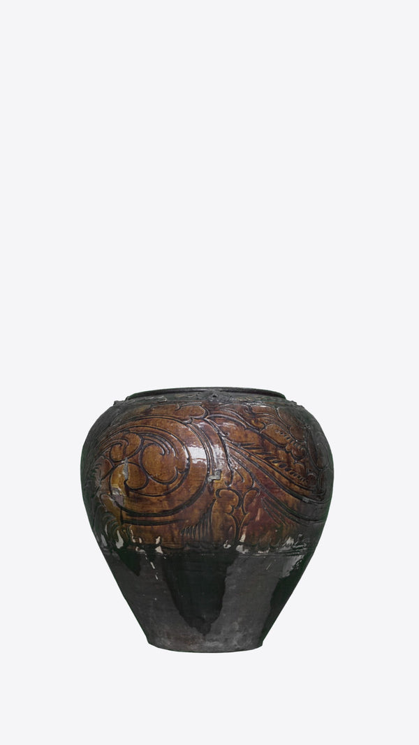 Burmese Ceramic Pot  00