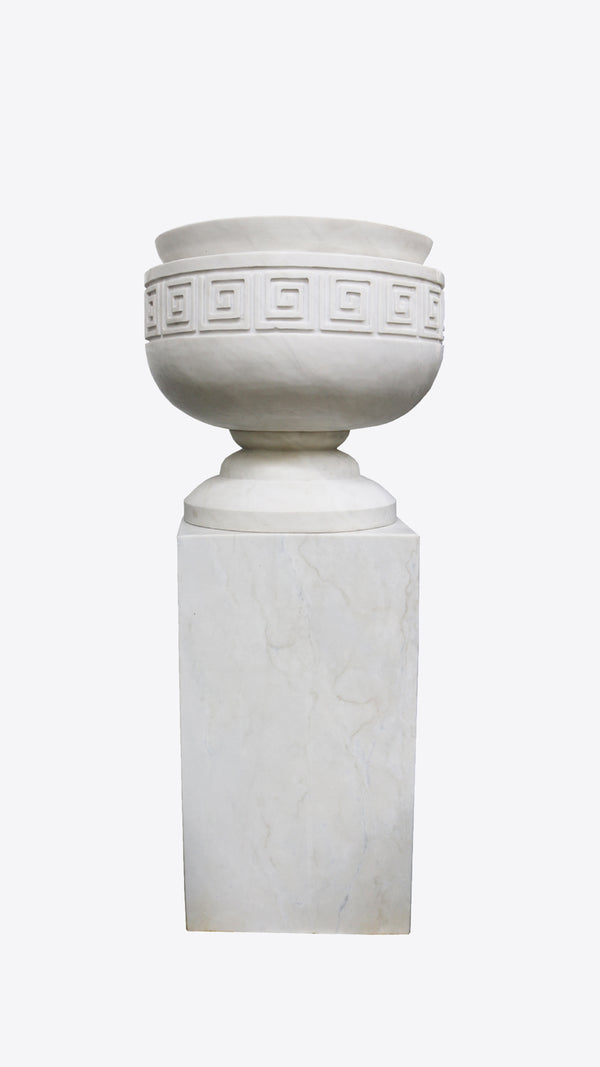Fluted Greco Urn & Pedestal - Ian Lyell Design Pots for Living Life