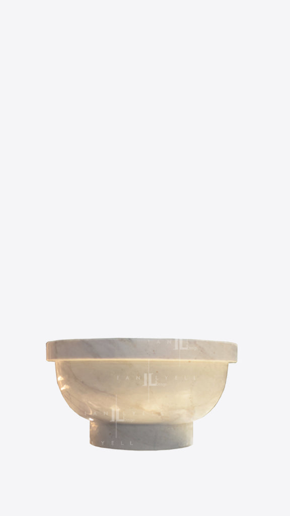 Delta Round Base Marble Bowl - Ian Lyell Design Pots for Living Life