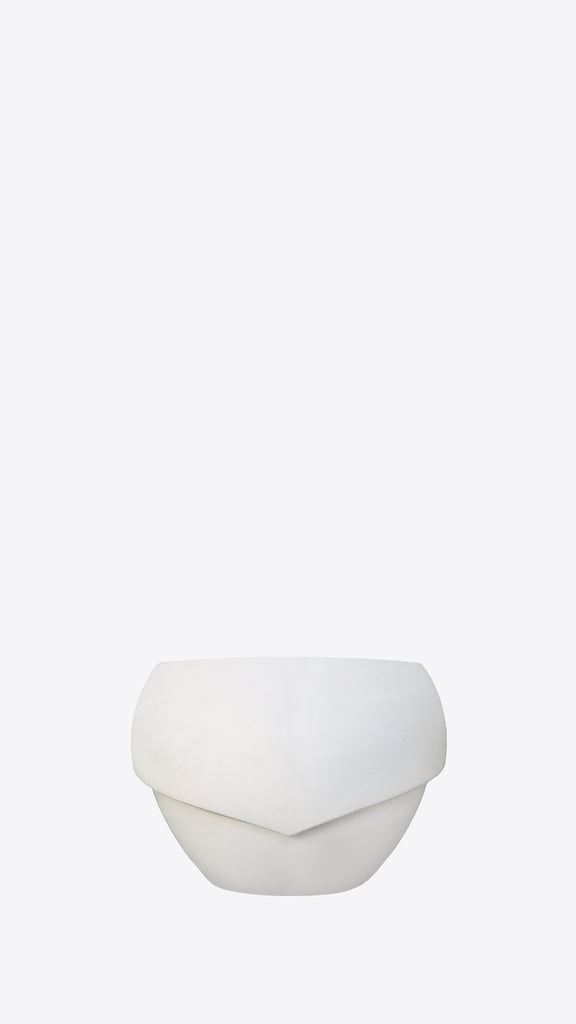 Millinery B 7 White Indoor Planter - Ian Lyell Design Pots for Living Life