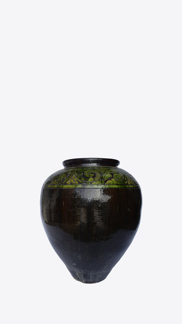 Burmese Ceramic Pot 04 - Ian Lyell Design Pots for Living Life