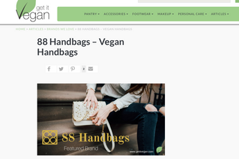 88 Handbags Featured in Get It Vegan