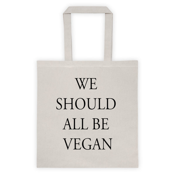 WE SHOULD ALL BE VEGAN Tote bag