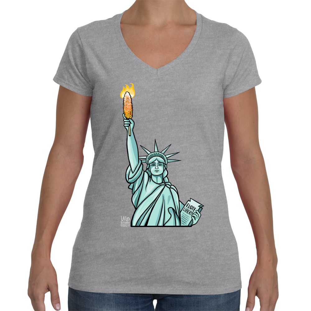 Elote Liberty Ladies V-Neck Shirt