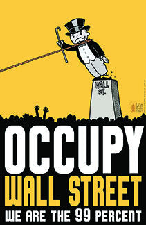 Occupy Wall Street print by Lalo Alcaraz