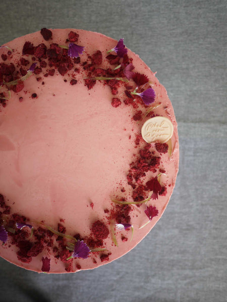 Vanilla Raspberry Rose Cake