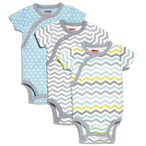 Skip Hop -  Starry Chevron Side-Snap Short Sleeve Bodysuit Sets