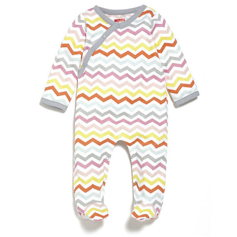 Skip Hop -  Starry Chevron Side-Snap Footies