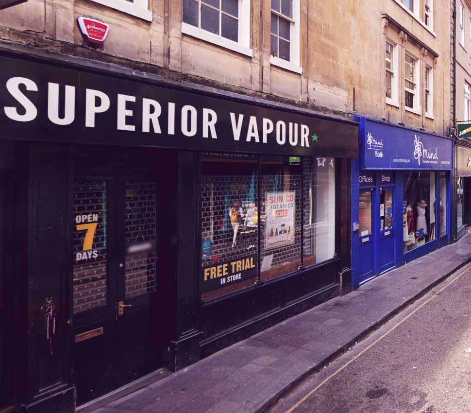 Vape Shop Bath - Exterior