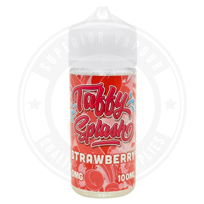 Strawberry E-Liquid 100Ml By Taffy Splash E Liquid
