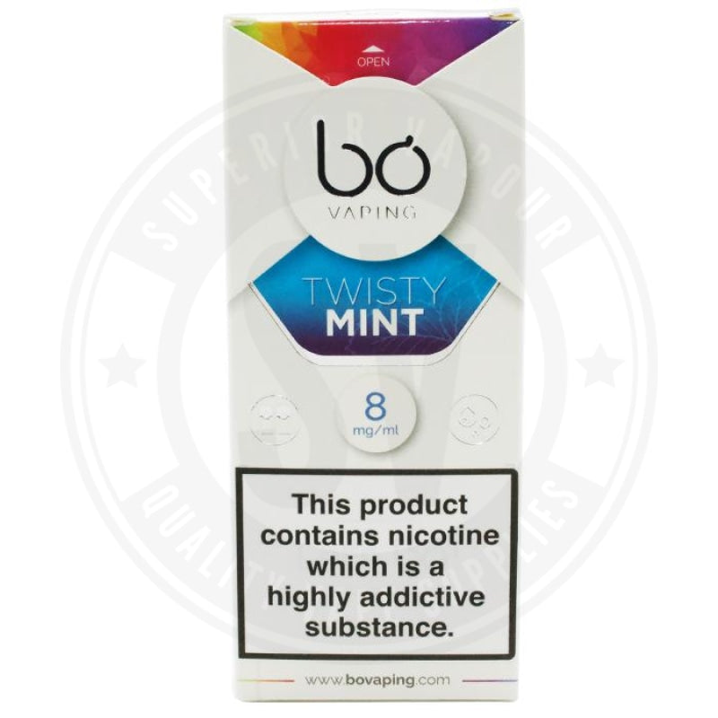 Twisty Mint Bo Caps By Vaping E Liquid