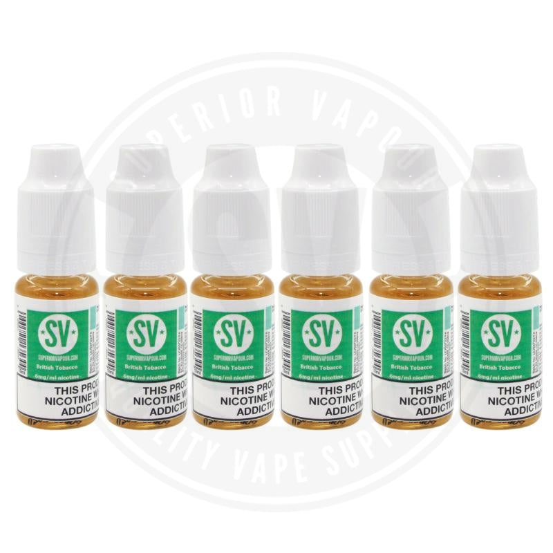 British Tobacco E-Liquid 10ml by Superior Vapour