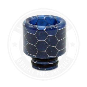 510 Stubby Resin Drip Tips By Vapjoy Blue Tip