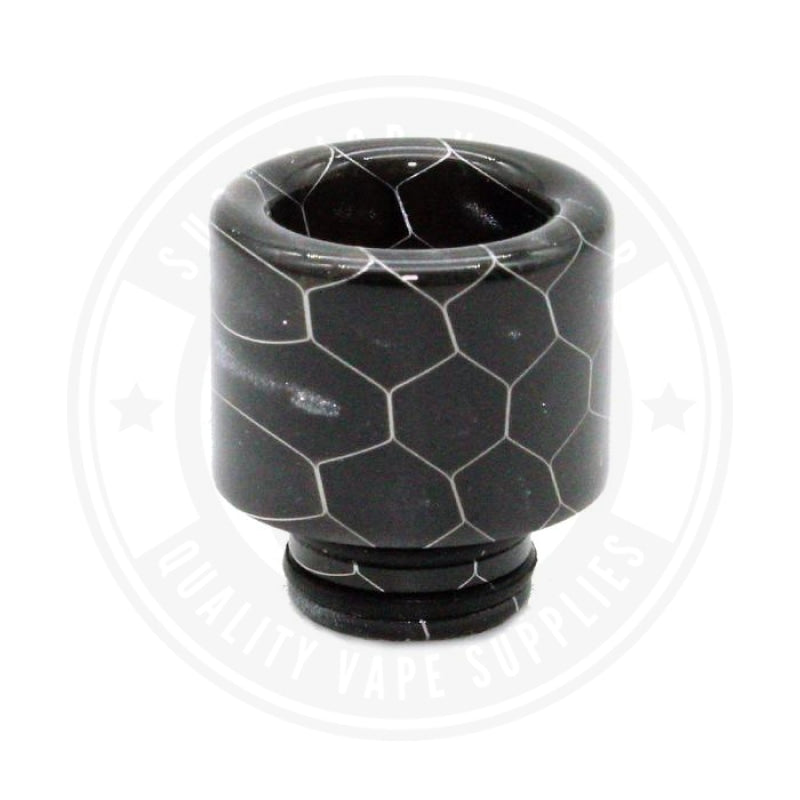 510 Stubby Resin Drip Tips By Vapjoy Black Tip