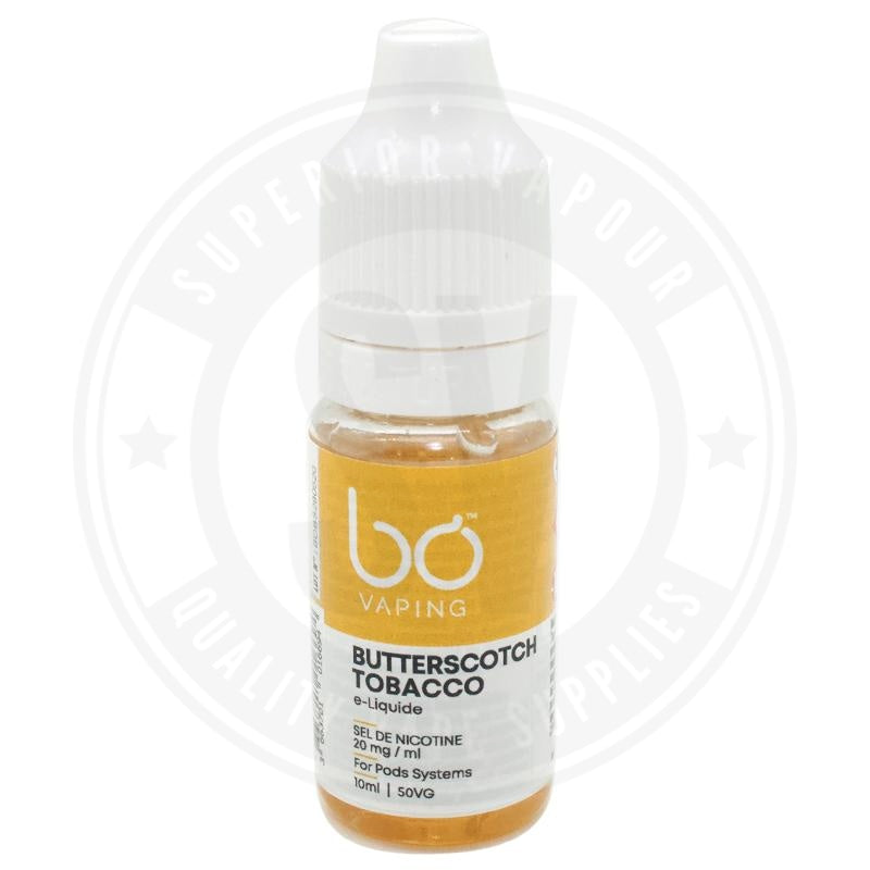 Butterscotch Tobacco E-Liquid 10ml Salts by BO Vaping