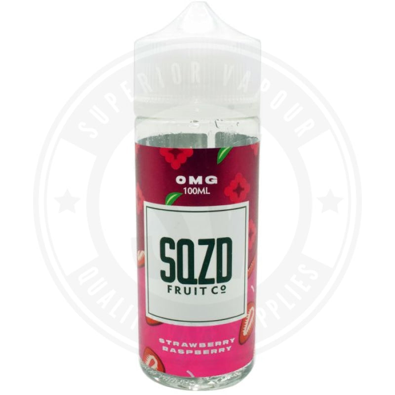 Strawberry Raspberry E-Liquid 100Ml By Sqzd Fruit Co. E Liquid